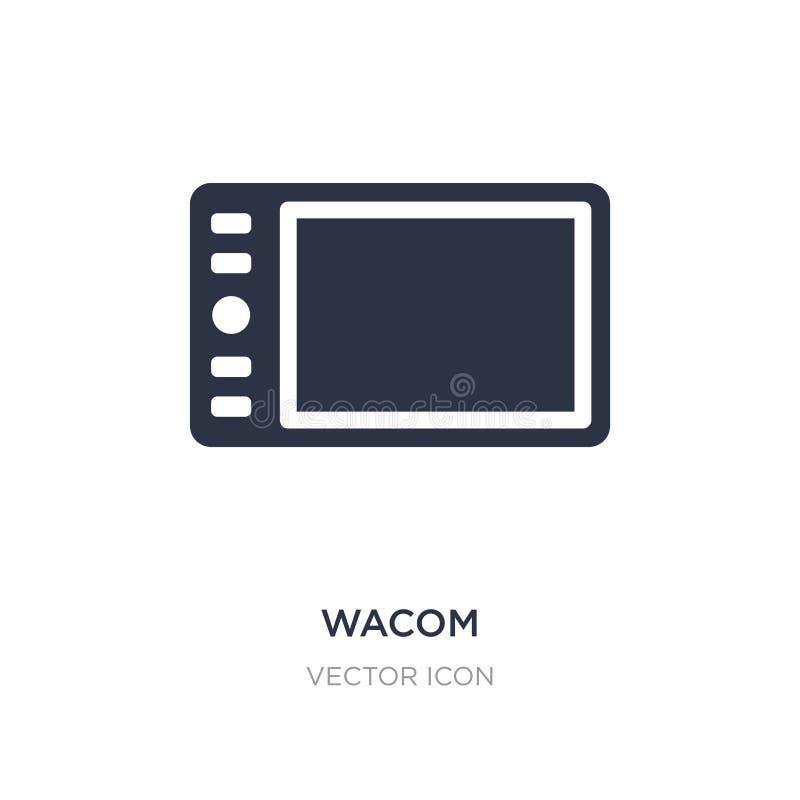 wacom ikona na białym tle Prosta element ilustracja od narzędzia pojęcia ilustracji