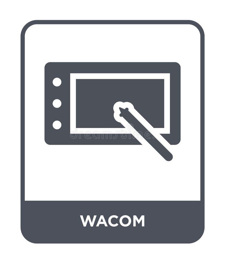 wacom ikona w modnym projekta stylu wacom ikona odizolowywająca na białym tle wacom wektorowej ikony prosty i nowożytny płaski sy royalty ilustracja