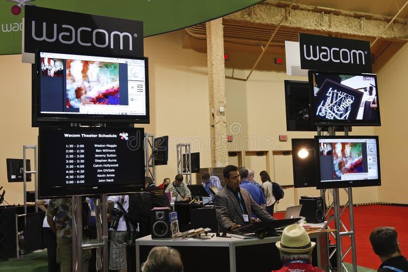 Wacom na conferência & na expo do mundo de Photoshop fotos de stock royalty free