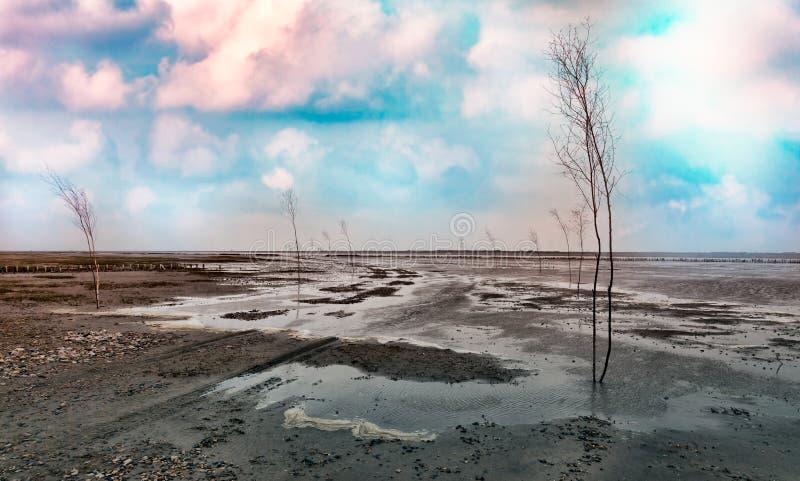 Wadden overzeese weg aan Mando stock afbeelding