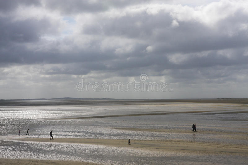 Wadden Sea Holland low water stock photos