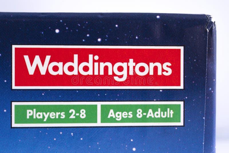 Waddingtons比赛商标 免版税库存照片
