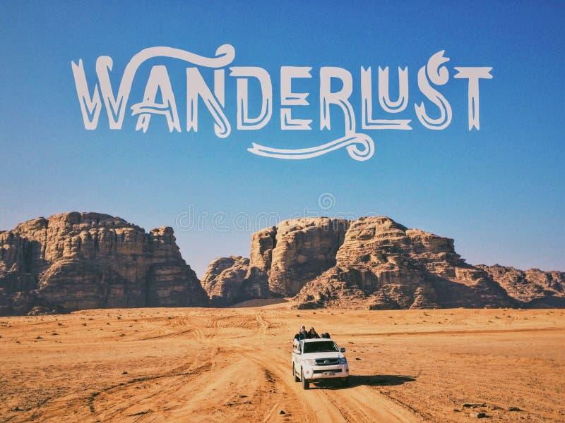 wadi ρουμιού της Ιορδανίας στοκ φωτογραφία