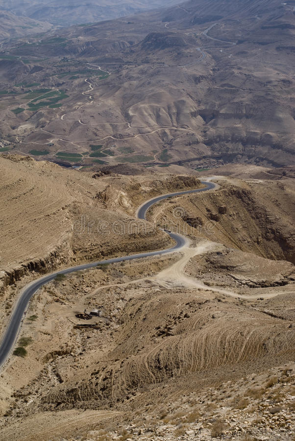 Wadi al Hasa, Giordania immagine stock