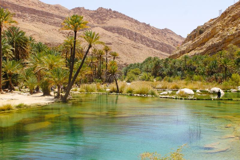 Wadi Bani Khalid fotografia stock libera da diritti