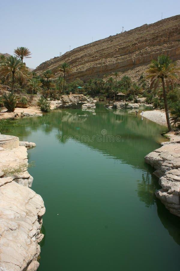 Wadi Bani Khalid fotografia stock