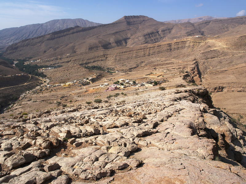 Wadi Bani Khalid fotografie stock