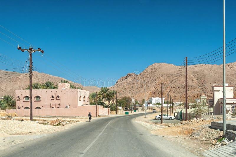 Wadi Bani Khalid - deserto dell'Oman - il sultanato dell'Oman immagini stock