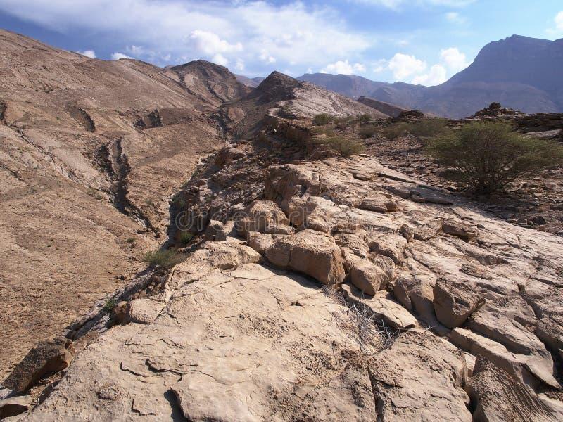 Wadi Bani Khalid, Oman immagini stock libere da diritti