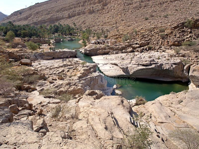 Wadi Bani Khalid, Oman fotografia stock