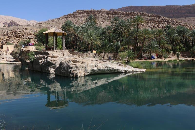 Wadi Bani Khalid, Oman fotografie stock libere da diritti