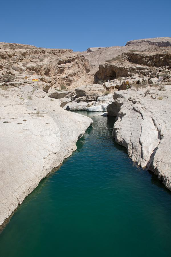 Wadi Bani Khalid in Oman stock image