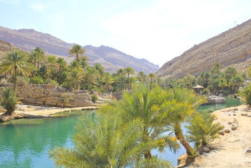 Wadi Bani Khalid, regione di Ash Sharqiyah immagine stock