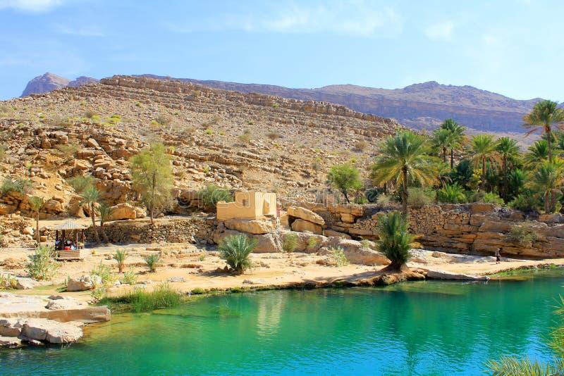 Wadi Bania Khalid, Oman obrazy stock