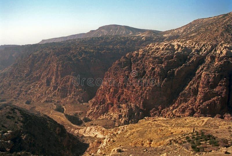 Wadi Dana, Jordania fotografía de archivo