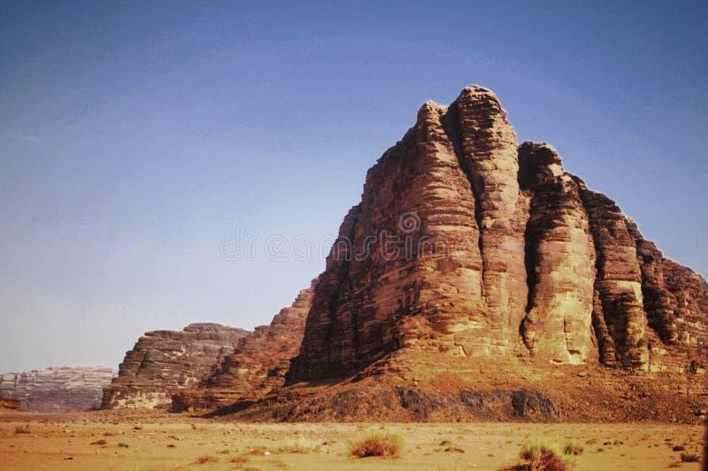 wadi för ökenjordan rom fotografering för bildbyråer