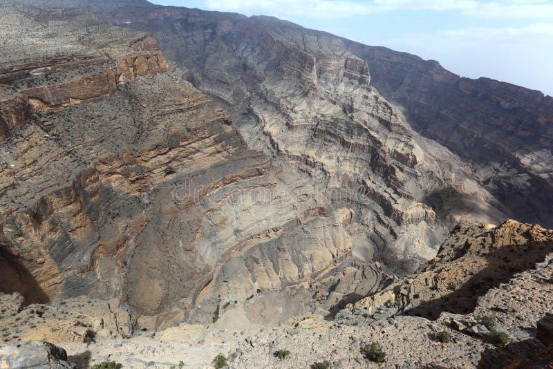Wadi Jebel Shams, Oman royalty free stock photo