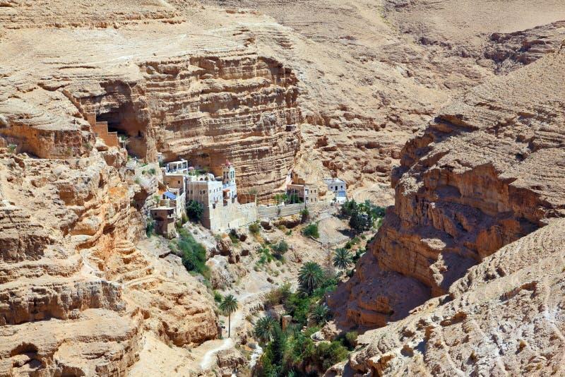 Wadi Kelt nahe Jerusalem stockfoto