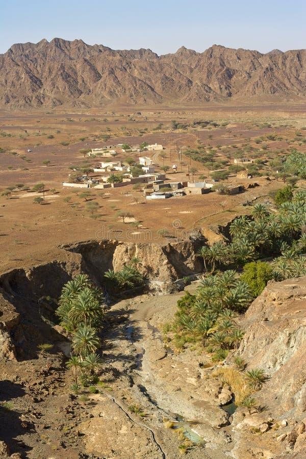 Wadi Madbah in Oman royalty free stock image