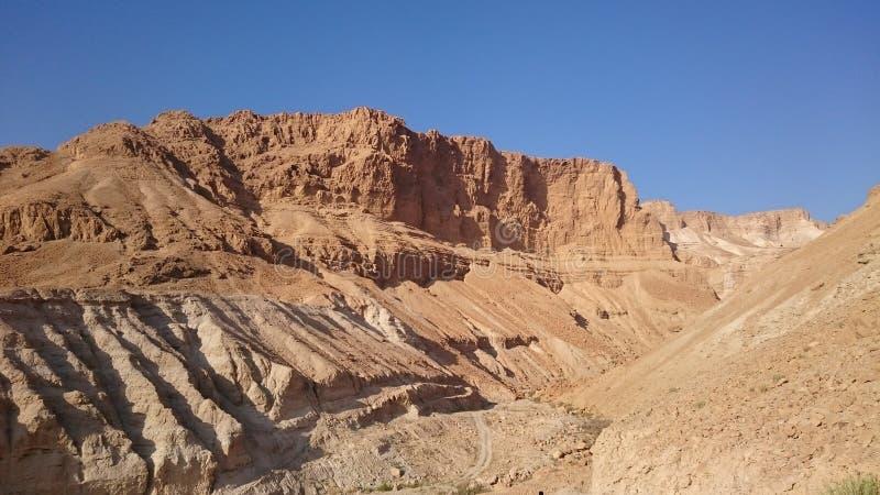 Wadi Masada cerca de la meseta de Masada fotos de archivo libres de regalías