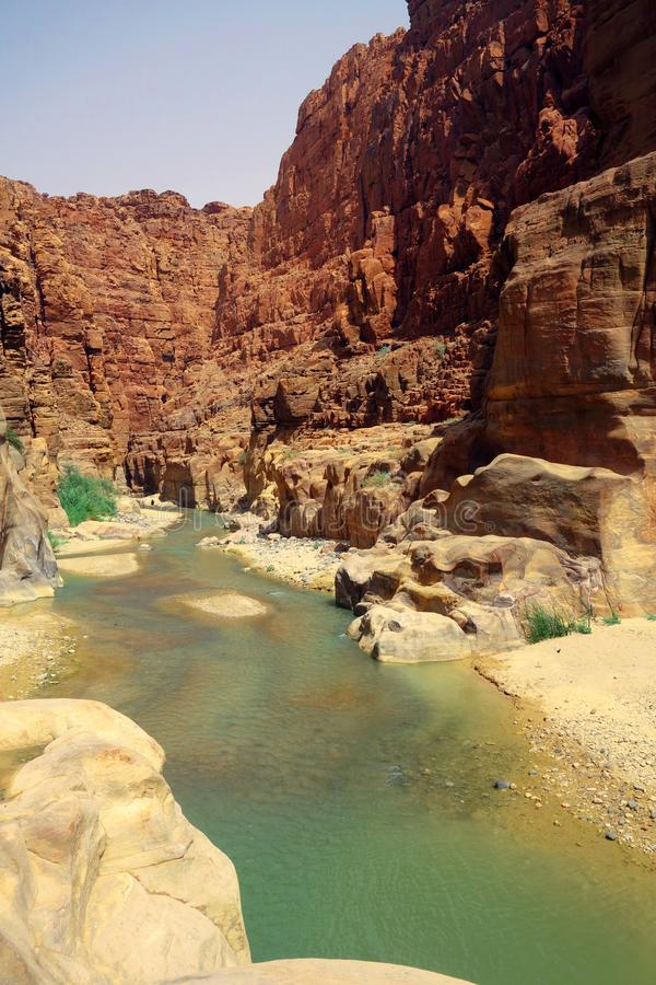 Wadi Mujib-canion royalty-vrije stock foto