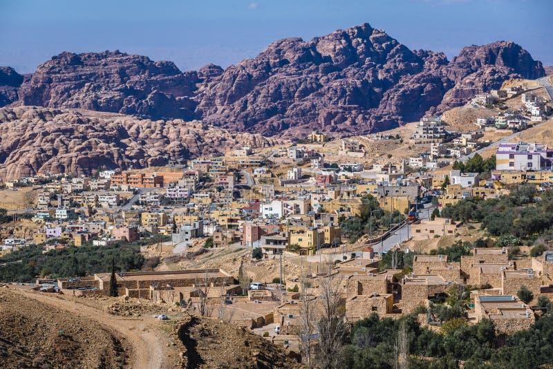 Wadi Musa en Jordanie image libre de droits