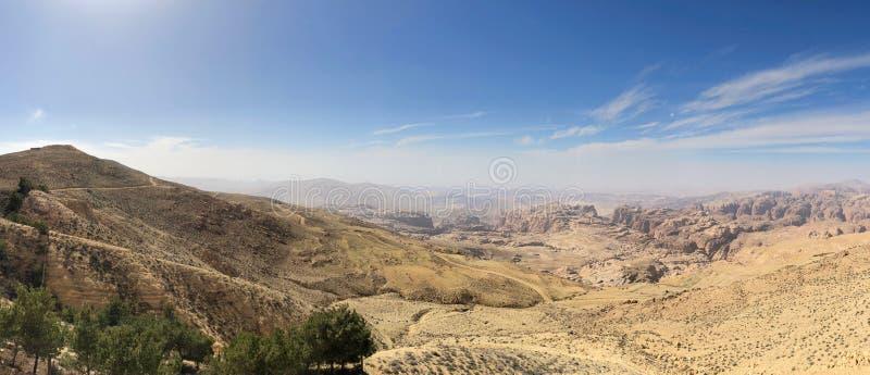 Wadi Musa, Valley of Moses, in Jordan stock photo