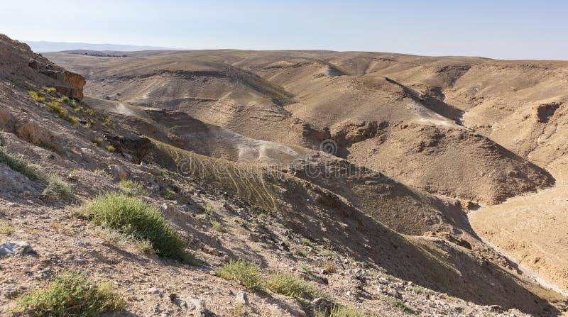 Wadi Nahal Kidod cerca de Arad en el Negev en Israel fotografía de archivo