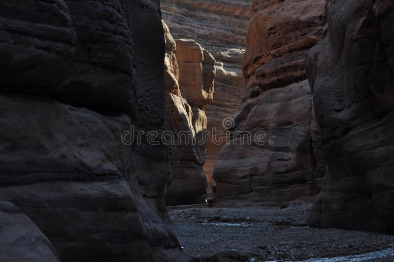 Wadi Numeira Canyon en Jordania imagen de archivo libre de regalías