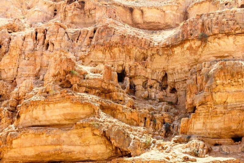 Wadi Qelt-holen, Judean-Woestijn royalty-vrije stock afbeeldingen
