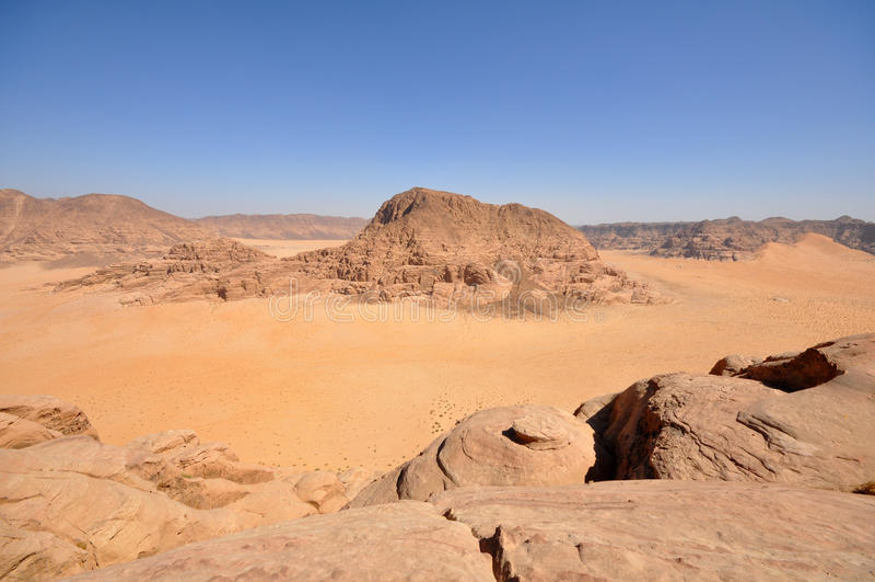 Wadi Rum desert royalty free stock photography