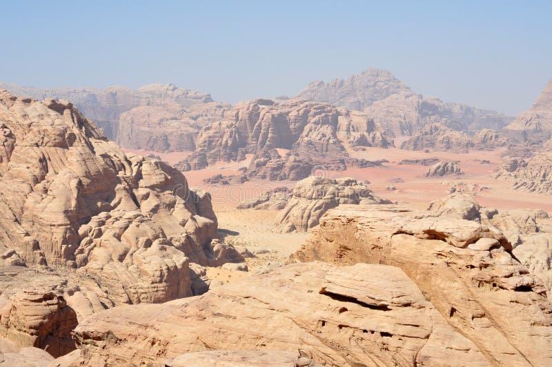 Wadi rum desert royalty free stock photos