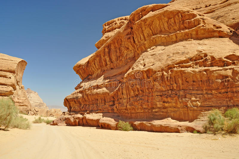 Wadi rum desert stock photography