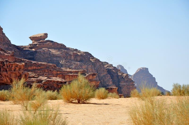 Wadi rum desert royalty free stock photo