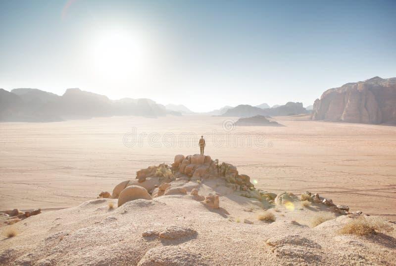 Wadi Rum Desert fotografering för bildbyråer