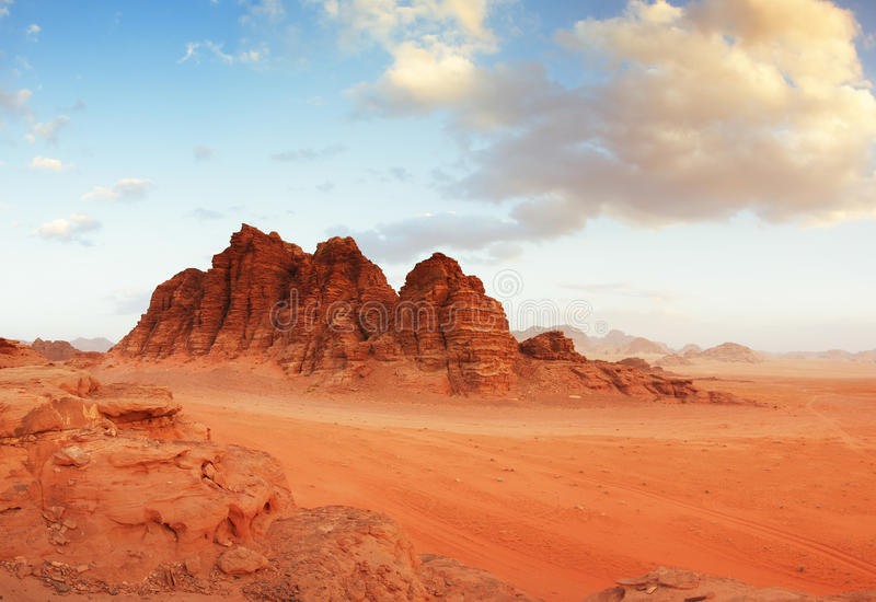 Wadi Rum desert, Jordan stock images