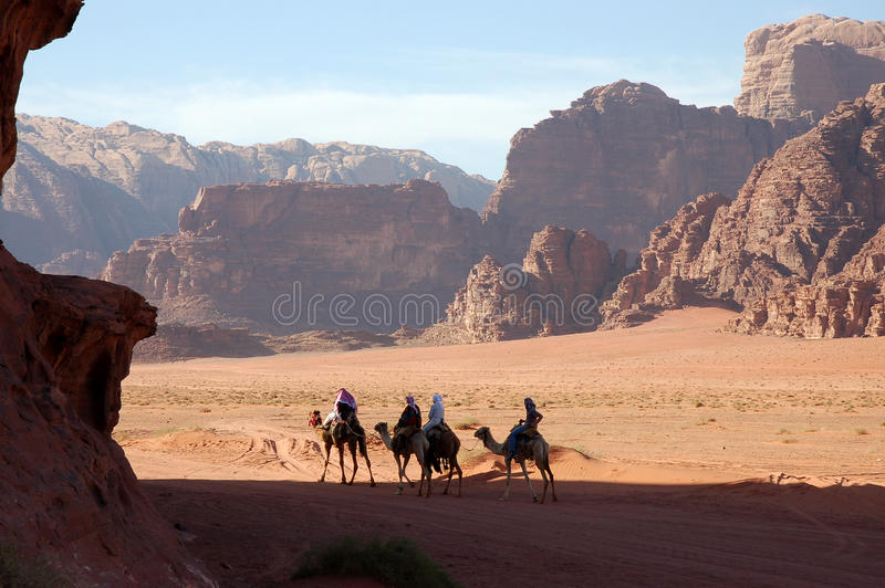 Wadi Rum desert, Jordan. stock photo
