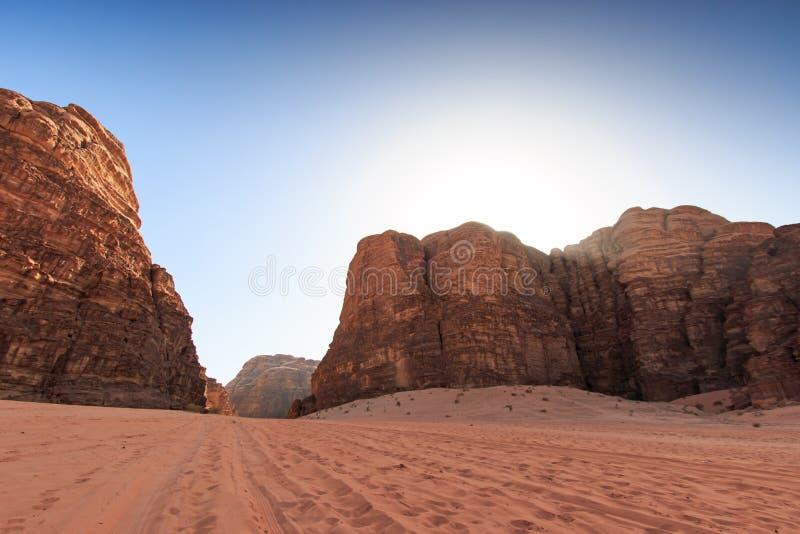Wadi Rum desert, Jordan royalty free stock photos