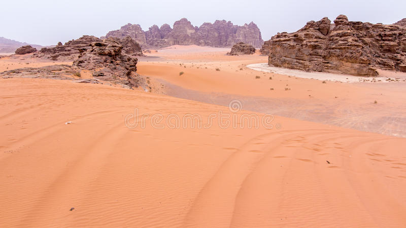 Wadi rum desert in Jordan. View of Wadi rum desert in Jordan stock images