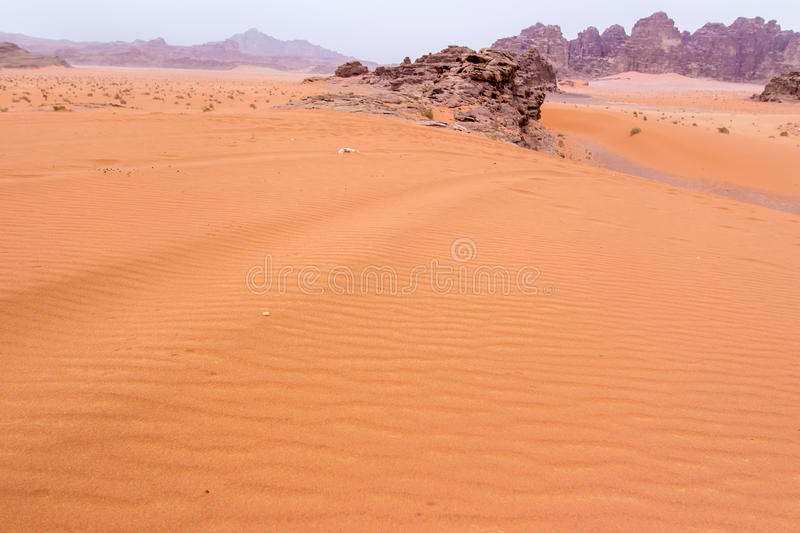 Wadi rum desert in Jordan. View of Wadi rum desert in Jordan royalty free stock photo