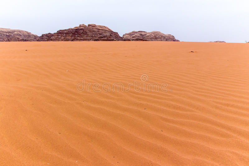 Wadi rum desert in Jordan. View of Wadi rum desert in Jordan stock image