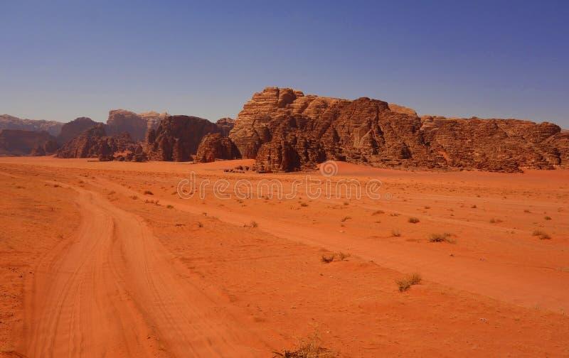 Wadi Rum Desert arkivbilder