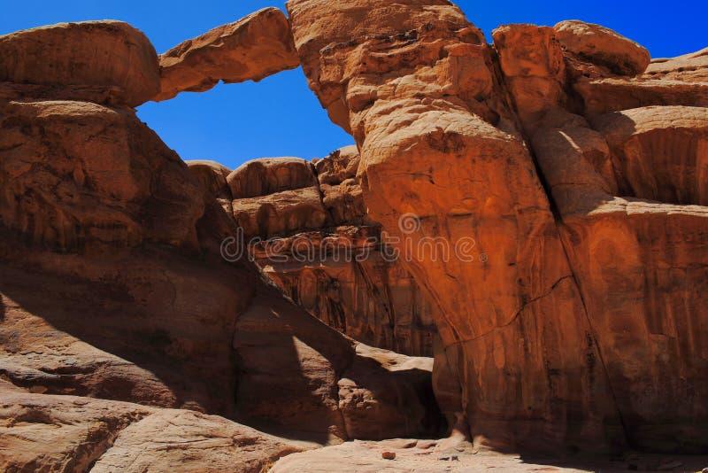 Jordan Wadi Rum landscapes, Desert Tourist Location. Wadi Rum Jordan, Camping, Camels, Site Seeing, Desert, 4x4 Driving, tourist location royalty free stock image