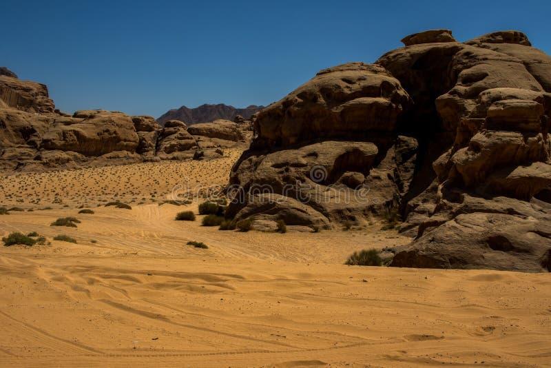 Jordan Wadi Rum landscapes, Desert Tourist Location. Wadi Rum Jordan, Camping, Camels, Site Seeing, Desert, 4x4 Driving, tourist location stock images
