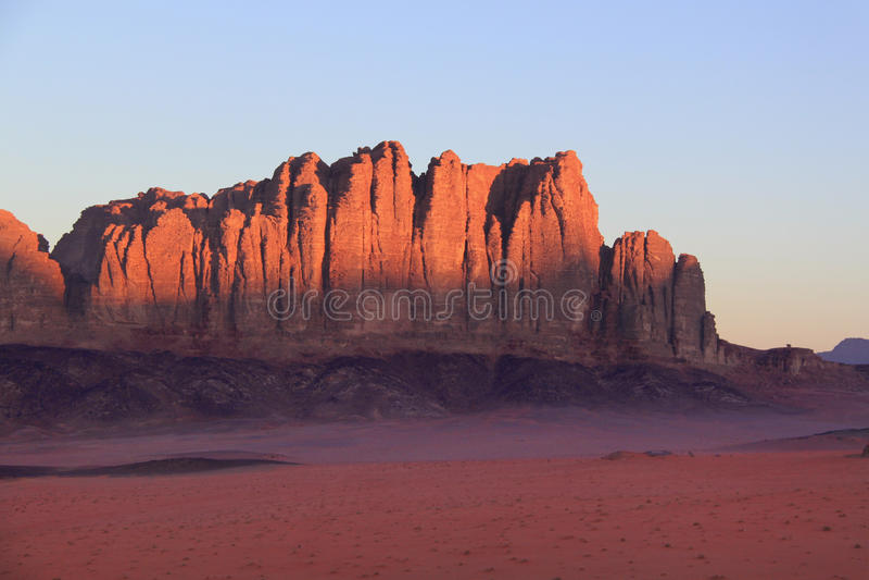 Wadi rum-Jordanië royalty-vrije stock afbeelding
