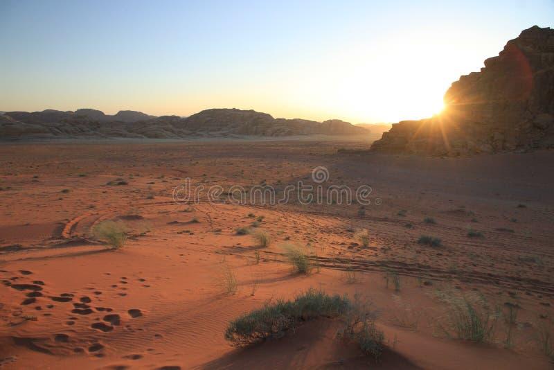 Wadi Rum/Jordanien stockfotos
