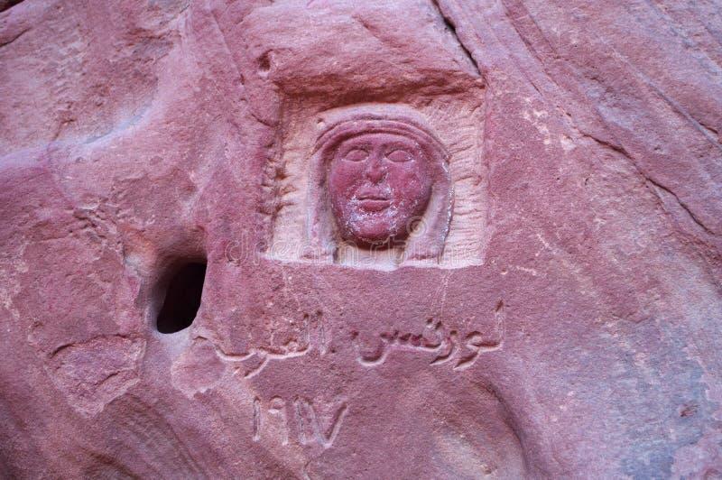 Wadi Rum, la valle della luna, Aqaba, Giordania, Medio Oriente immagine stock