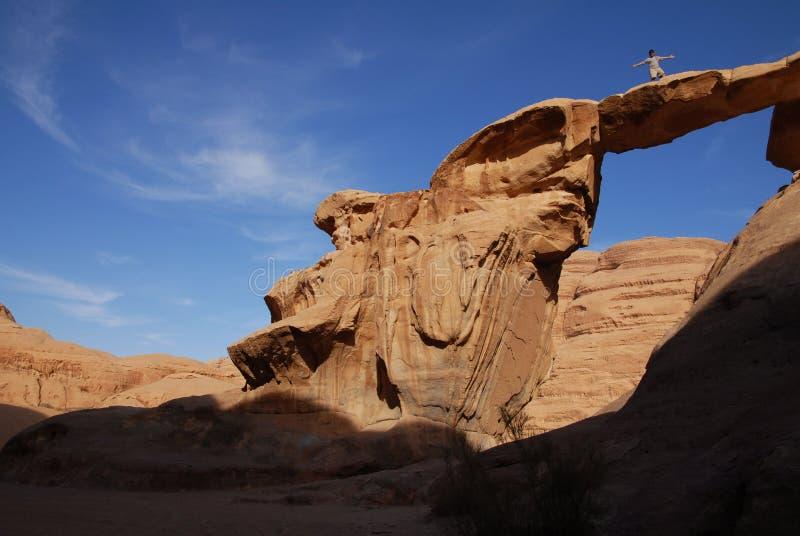 Wadi-Rum-Landschaft Jordanien lizenzfreie stockfotos