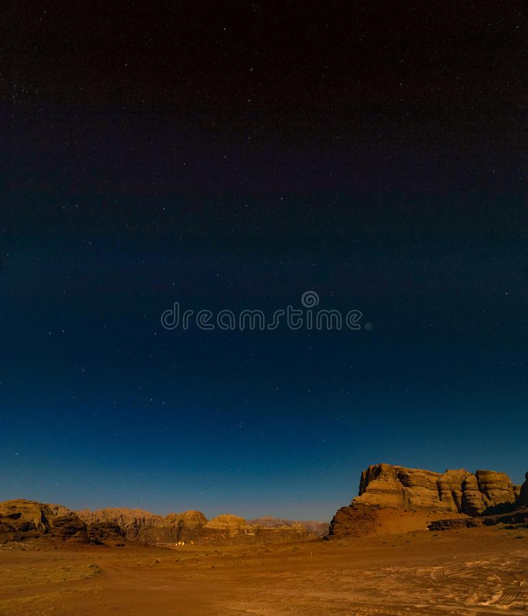 Wadi Rum Night I royalty free stock photos