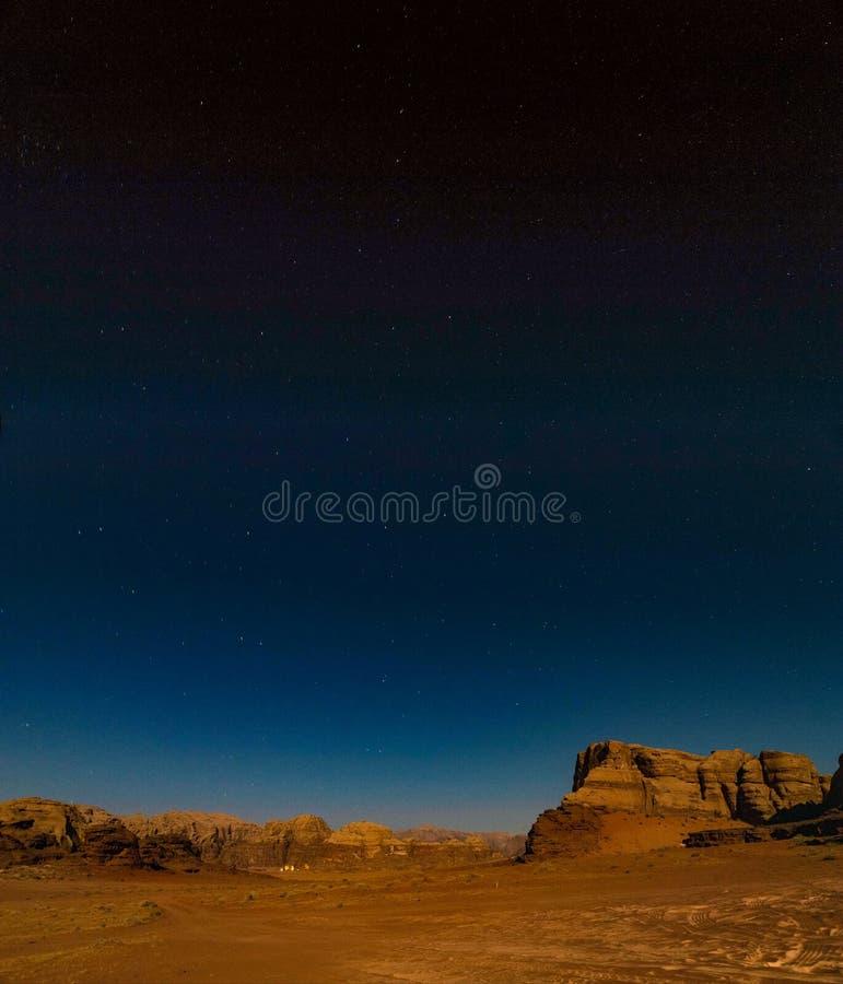 Wadi Rum Night I fotos de archivo libres de regalías
